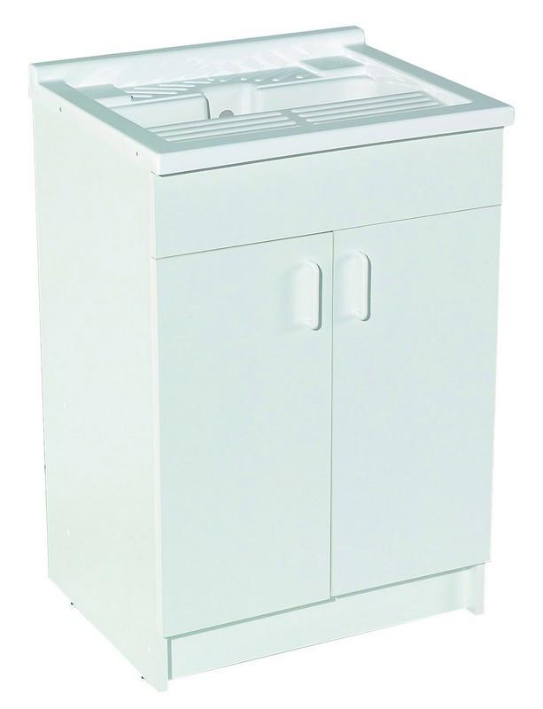 Meuble buanderie l60xp47cm 2p sans bac ref b10b82060 - Vide sanitaire meuble cuisine ...