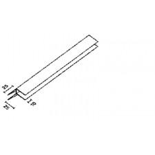 PROFIL ANGLE EXTERIEUR PVC BLANC 600 CM  POUR LAMBRIS SOUS FACE