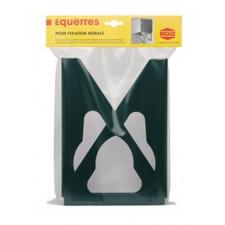 EQUERRE MURALE (la paire) VERT           175X250X30 MM
