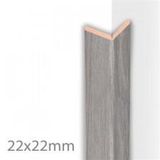 MOULURE PLIABLE COLONIAL GRIS ARGENTE    22X22X2600 MM