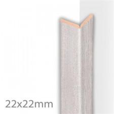 MOULURE PLIABLE COLONIAL GRIS BLANC      22X22X2600 MM