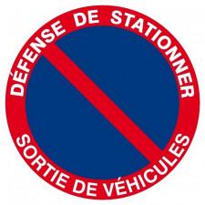 PANNEAU DEFENSE DE STATIONNER SORTIE