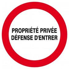 PANNEAU PROPRIETE PRIVEE DEF. D'ENTRER
