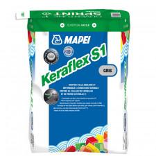 KERAFLEX S1 GRIS  SAC DE 25KG            MORTIER COLLE AMELIORE DEFORMABLE C2TES1