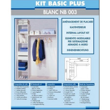 KIT AM PLACARD BASIC+BLC NB003-2TIROIRS  2COTES 5 TABLET+1GRANDE  1TUBE 1QUINCAIL
