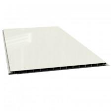 LAMBRIS PVC INT BLC BRILL 2700X250X10MM  INTERIEUR BLANC BRILLANT   4 LAMES/PQUET