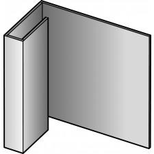 PROFIL ARRET 3ML CEDRAL LAP BLANC C C07  BLANC CREME