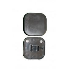 CHAPEAU DE POTEAU ABS GRIS 74X74 -28 MM  CLOTURE BALI COMPOSITE GRIS ARDOISE